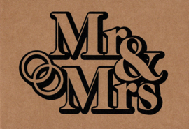 Ansichtkaart 'Mr & Mrs'
