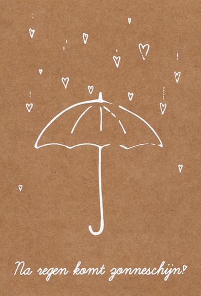 Ansichtkaart 'Na regen komt zonneschijn!'