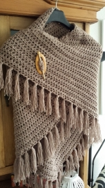 Scarf soften brown, double thread - to order
