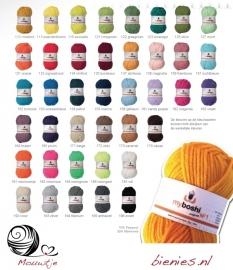 Myboshi kleurenkaart voor eigen ontwerp