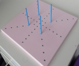 Grannyblockstation Pink with  8 WHITE pins SPECIAL EDITION