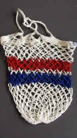 Boodschappennet Wit / Rood wit blauw