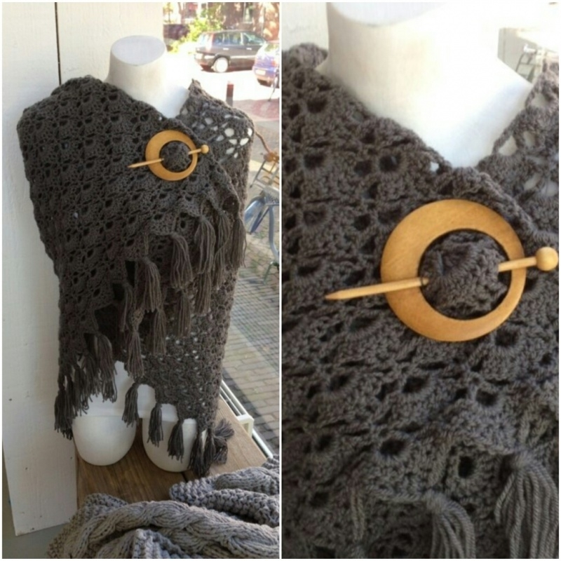 Scarf grey - to order