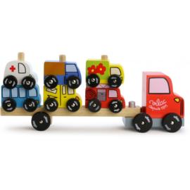 Vilac - Vrachtwagen - auto stapelspel