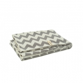 Jollein - Deken Chevron grey/off-white 75x100cm