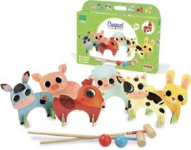 Vilac - Croquetspel houten boerderijdieren