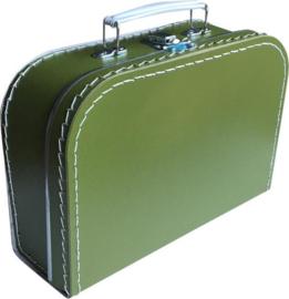 Kinderkoffer Medium Olijfgroen  25 cm  x 18 cm  x 9 cm