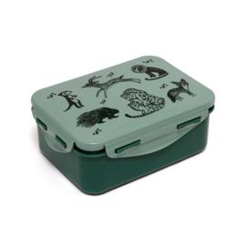 Petit Monkey - Lunchbox -Black Animals salie