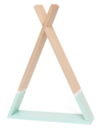 Petit Monkey - Tipi wandplankje- Mint- 30 cm