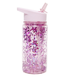 Petit Monkey - Drinkfles -Glitter - Purple  Orchid