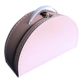 Koffertje halfrond Roze