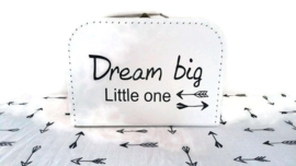 Geboorte Koffertje ' Dream big...'' met XL hydrofieldoek Indians