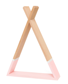 Petit Monkey - Tipi wandplankje- Roze- 30 cm