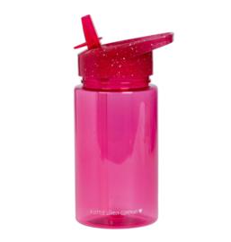 A Litte Lovely Company - Drinkfles - Glitter roze