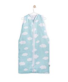 Jollein- Zomer slaapzak Clouds Jade Mintgroen ( 70,90.110 cm)