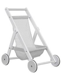 Kid's Concept - Houten poppen wandelwagen - grijs
