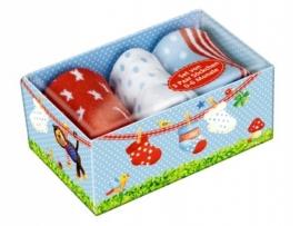 Cadeaubox met babysokjes ( 3 paar sokjes)