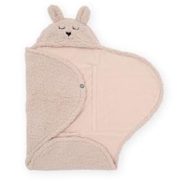 Jollein - Wikkeldeken-Bunny-Pale Pink