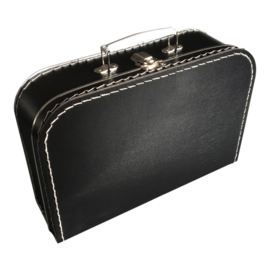Kinderkoffer Large Zwart ( 30 cm breed x 21 cm hoog x 9 cm diep)