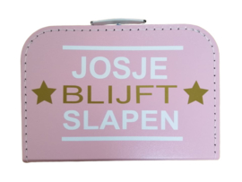 Kinderkoffertje-Chantal blijft slapen- met eigen naam