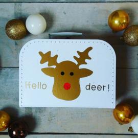 Kinderkoffertje ' Hello deer!'