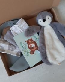 brievenbus liefs - Pinguïn grey