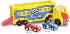 Vilac-  Truck met 2 raceauto's