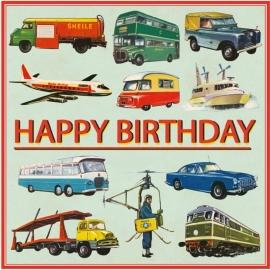 Rex - Verjaardagskaart Vintage Transport