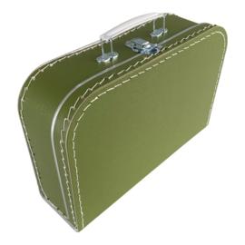 Kinderkoffertje  - Extra Large -Olijfgroen 35 cm x 23 cm x 10 cm