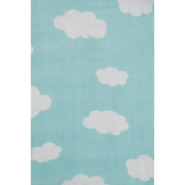 Jollein -Hydrofiel washandjes Clouds Jade Mintgroen (3pack)