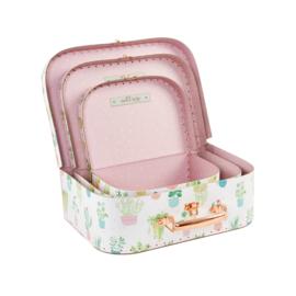 Sass & Belle - Kinder kofferset  - Pastel Cactus