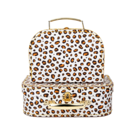 Sass & Belle - Leopard- Kofferset van 2
