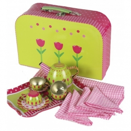 Imagetoys - Kinder Theeservies Tulpen in luxe koffer