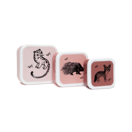 Petit Monkey - Trommel set - Black Animals roze