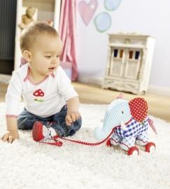 Baby geluk - Olifantje op wielen
