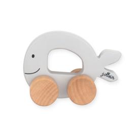 Jollein - Speelgoedauto Sea animal - grey