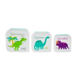 Sass & Belle - Set van 3 snackdoosjes - Dinosaurs