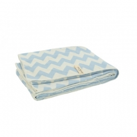 Jollein - Deken Chevron blue/off-white 75x100cm