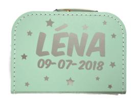 Kinderkoffertje met Naam en Geboortedatum