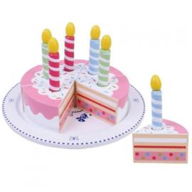 Mama Memo - Houten verjaardagstaart