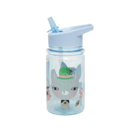 Petit Monkey - Drinkfles Lama & Friends - Blue