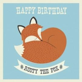 Rex -Verjaardagskaart Rusty the Fox