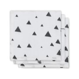 Jollein- Monddoekjes hydrofiel Indians Black and White (3pack)