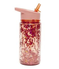 Petit Monkey - Glitter - Rood- Peach Blossom