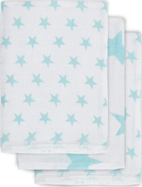 Jollein- Hydrofiel washandjes Little Star Mintgroen (3pack)