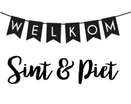 Statische raamsticker - Welkom Sint & Piet