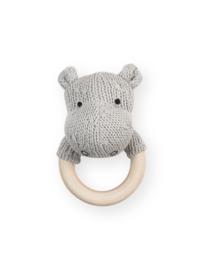 Jollein - Rammelaar/ bijtring - Hippo-Grijs
