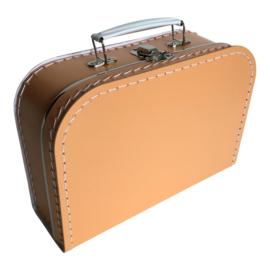 Kinderkoffertje  Medium- Zomereditie- Licht oranje 25 cm x 18 cm x 9 cm
