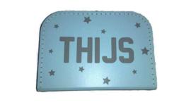 Kinderkoffer met naam + sterren print