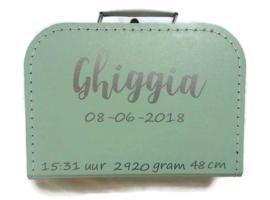 Kinderkoffertje - Newborn- Geboortegegevens